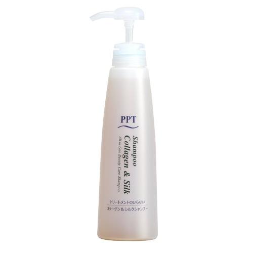 画像1: PPTコラーゲン&シルクシャンプー400ml 脂性肌&普通肌用(ふんわり)400ml (1)